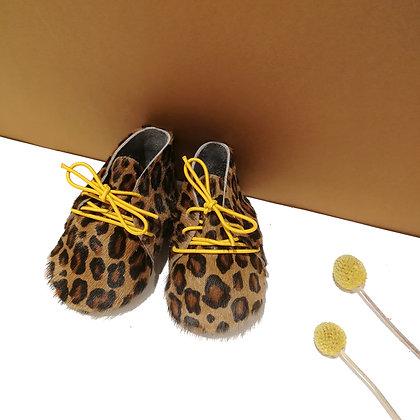 chausson bébé leopard
