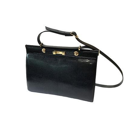 New vintage sac en lézard noir GM