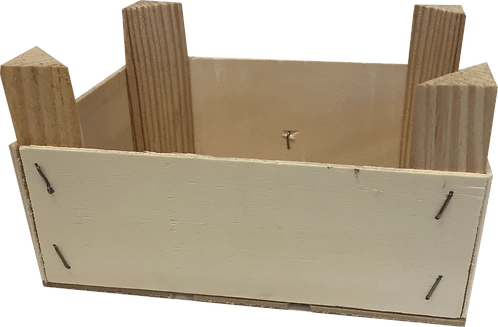 Cassetta in legno per Cestino piccolo - 3 pezzi