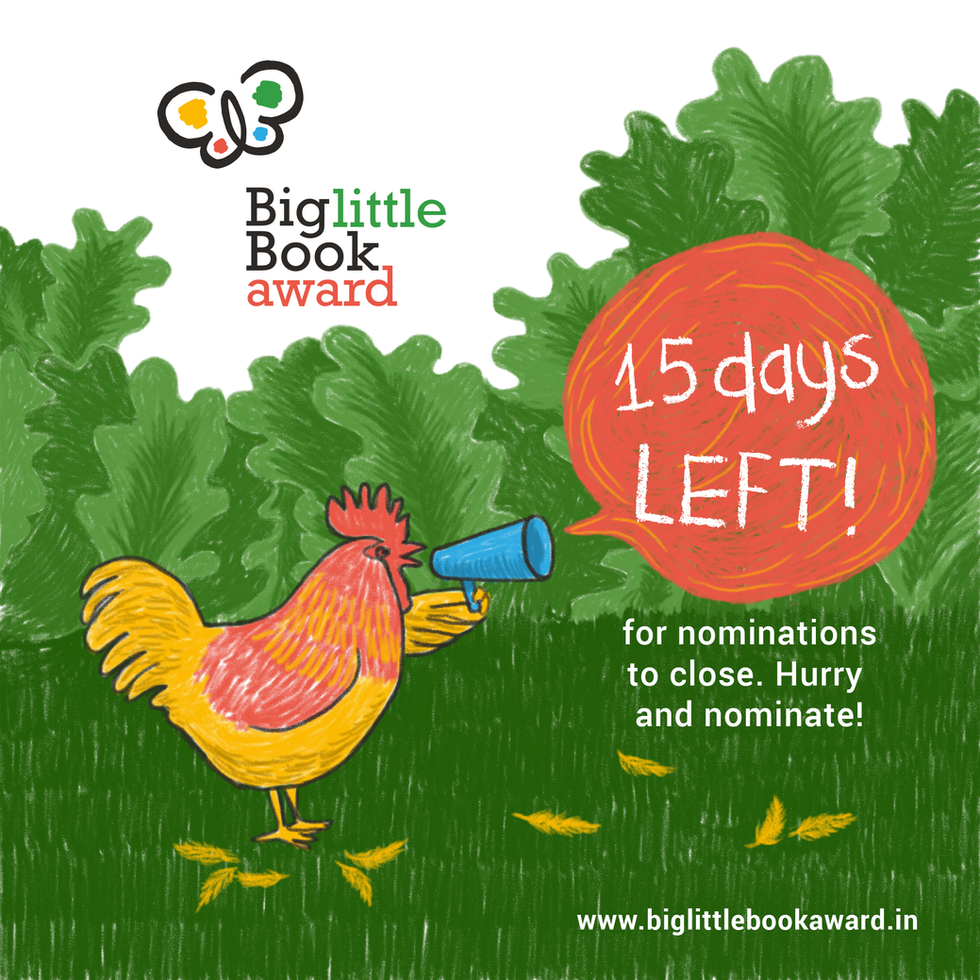 Image created to announce the number of days left before the close of nominations for the Award.