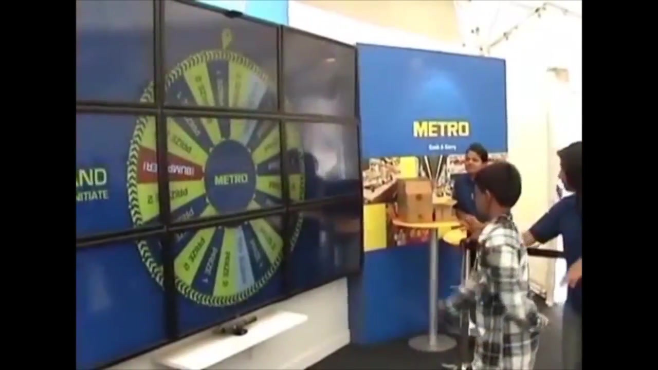 The interactive wheel of fortune designed for the event.