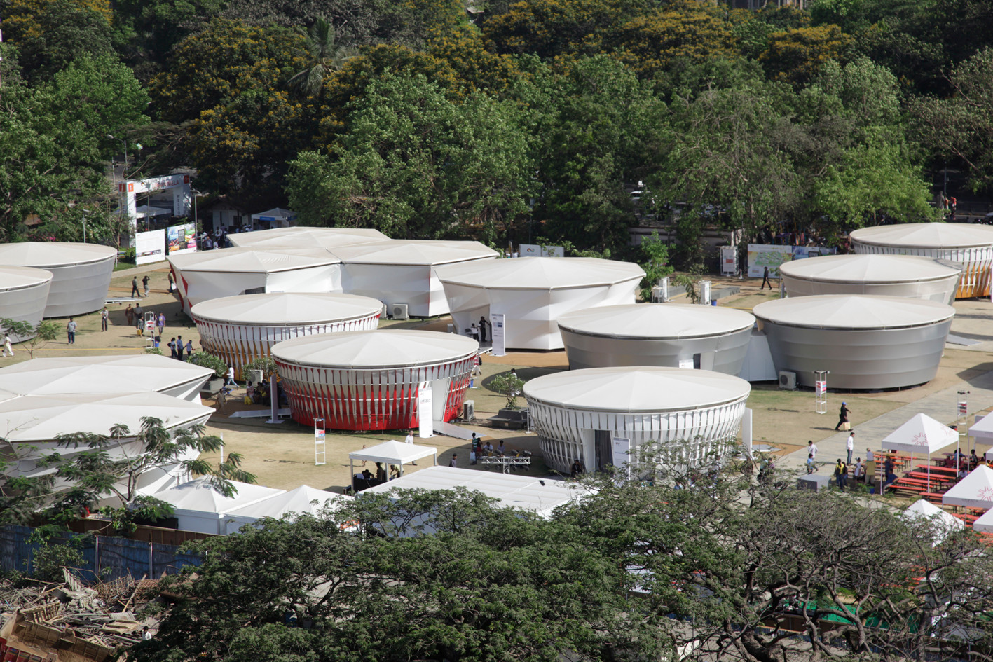 The innovative pavilions designed by renowned German artist Markus Heinsdorff.
