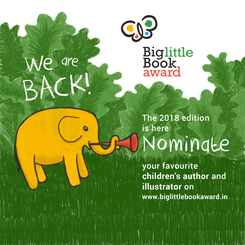 Image created to announce the return of the Award on social media.