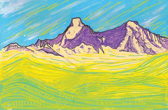 Mountains 1 - Nandakot from Shama