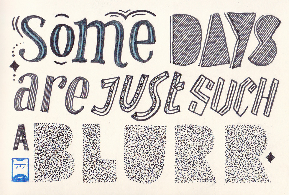 Practicing lettering on a slow moving day.
