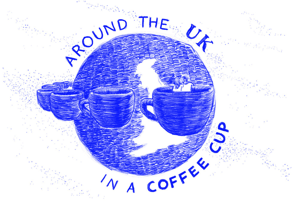 I love coffee and I love travelling so I decided to document our recent trip to the UK to meet one part of our family there. This one is part of a series of images with illustrations and lettering as a glimpse of what we experienced there with constant theme of coffee.   Below is the link to the complete series on my blog.  https://medium.com/dns-notes/around-the-uk-in-a-coffee-cup-558cbe7c4290