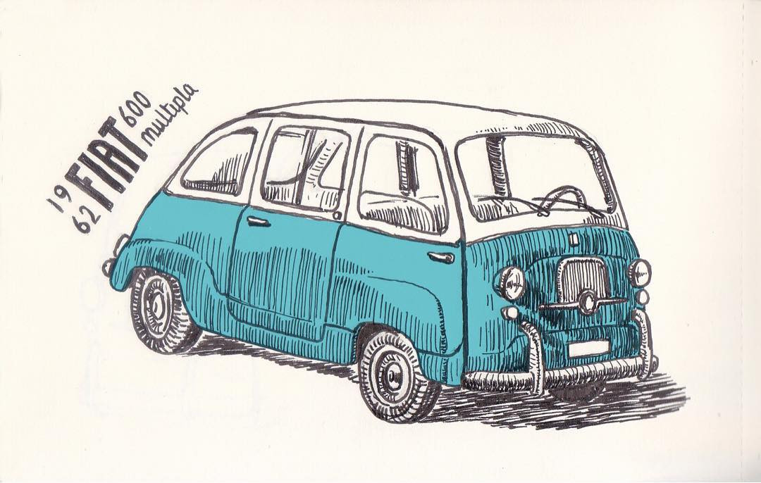 Jerry Seinfeld paired this 1962 Fiat 600 Multipla with his guest Kate McKinnon on his Netflix show 'Comedians in Cars Getting Coffee'. I do not really know his reasons but I loved this car totally. It is small, cute and beautiful! It does not have a powerful engine but I do not care. If it can ply on the roads and still look this beautiful, it is perfect for me! I also love Kate McKinnon! She is talented, funny, smart, beautiful and scary (her eyes sometimes look really scary)!