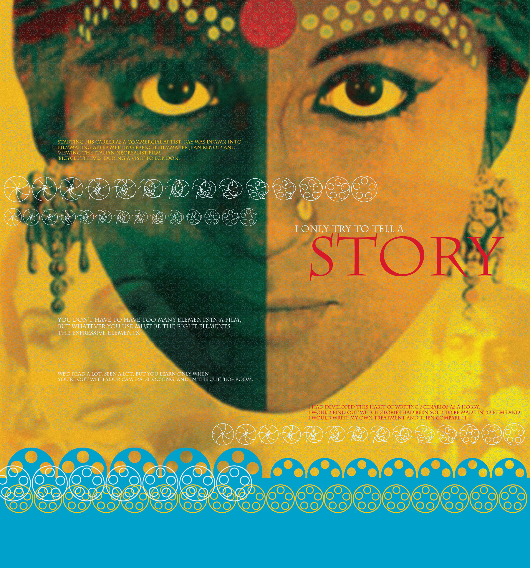 Satyajit Ray (left panel)
