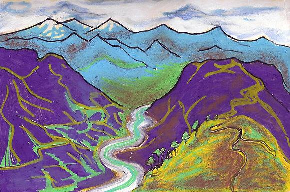 Mountains 2 - Ramganga River from Shama