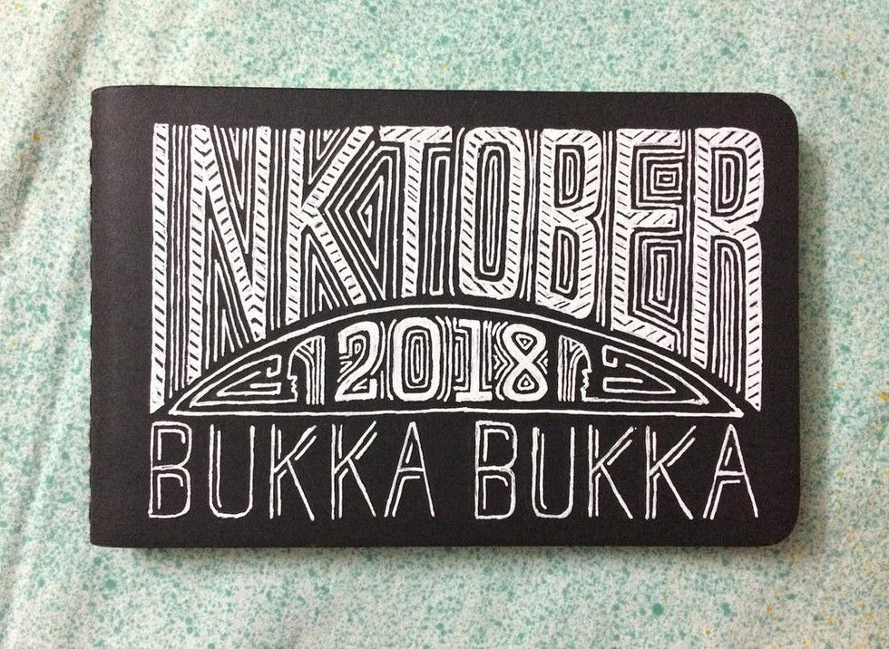 I used this Moleskine to draw my Inktober 2018 series. After completing the series drew the title on it so I could remember.   Below is the link to the complete illustrated story on my blog.  https://medium.com/dns-notes/inktober-2018-bukka-bukka-9494fd535399