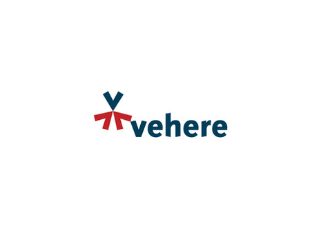 Being a consultancy, the symbol represents convergence of different people. Also, this convergence is synonymous with the fact that Vehere's portfolio of services and products is a convergence of several specialised streams of expertise. The three V shapes come together to make a person with open arms giving a positive feeling of being amiable and approachable.