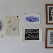 From Left to Right: Viv Wootton - Exotic Blue (2018) Kim Lowe - Our Lady - The Fuzz (2017) Above: Christine Taylor - A Sense of Belonging (2016) Below: Ben Fong - Soleva Vakayuti - Fijian Celebrations (2017) Robyn Webster - Feeling States of Home (2015)