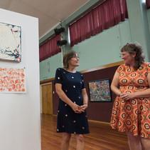 Opening night of SL:K art exhibition at Memorial Hall