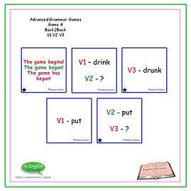 Advanced Grammar Game #4 Back2Back v1 v2 v3