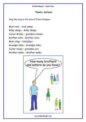 Family Song and Talking Card