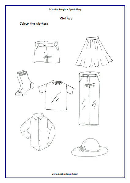 ESL Easy Read Tots - Clothes