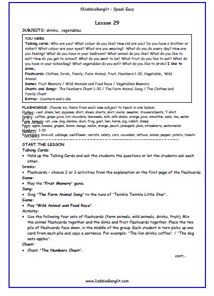 Speak Easy - Lesson Plan 27