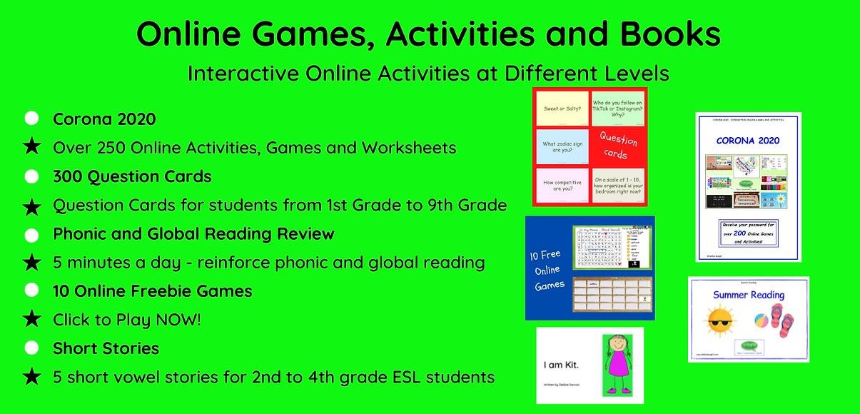 DebbieBanglit Online Games Activiites and Books
