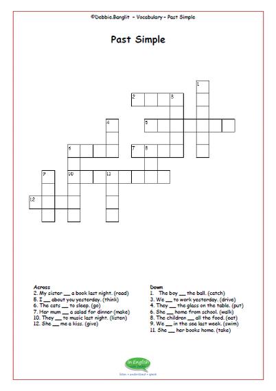 ESL Crosswords - past simple