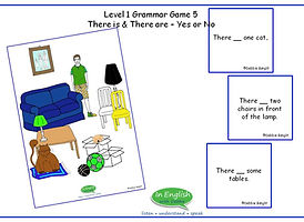 ESL DebbieBanglit Grammar Game There is and There are