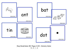 Easy Read ESL phonics Memory Game