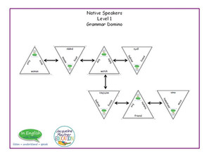 EFl Singular & Plural Domino Grammar Game