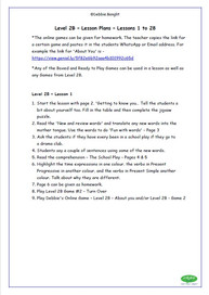 Level 2B - Teacher Lesson Plans