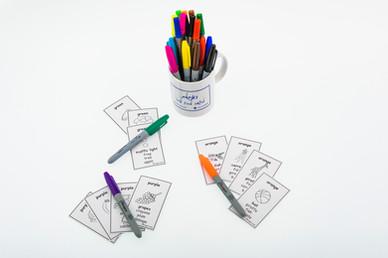 DebbieBAnglit - ESL Colour Happy Families Card Game