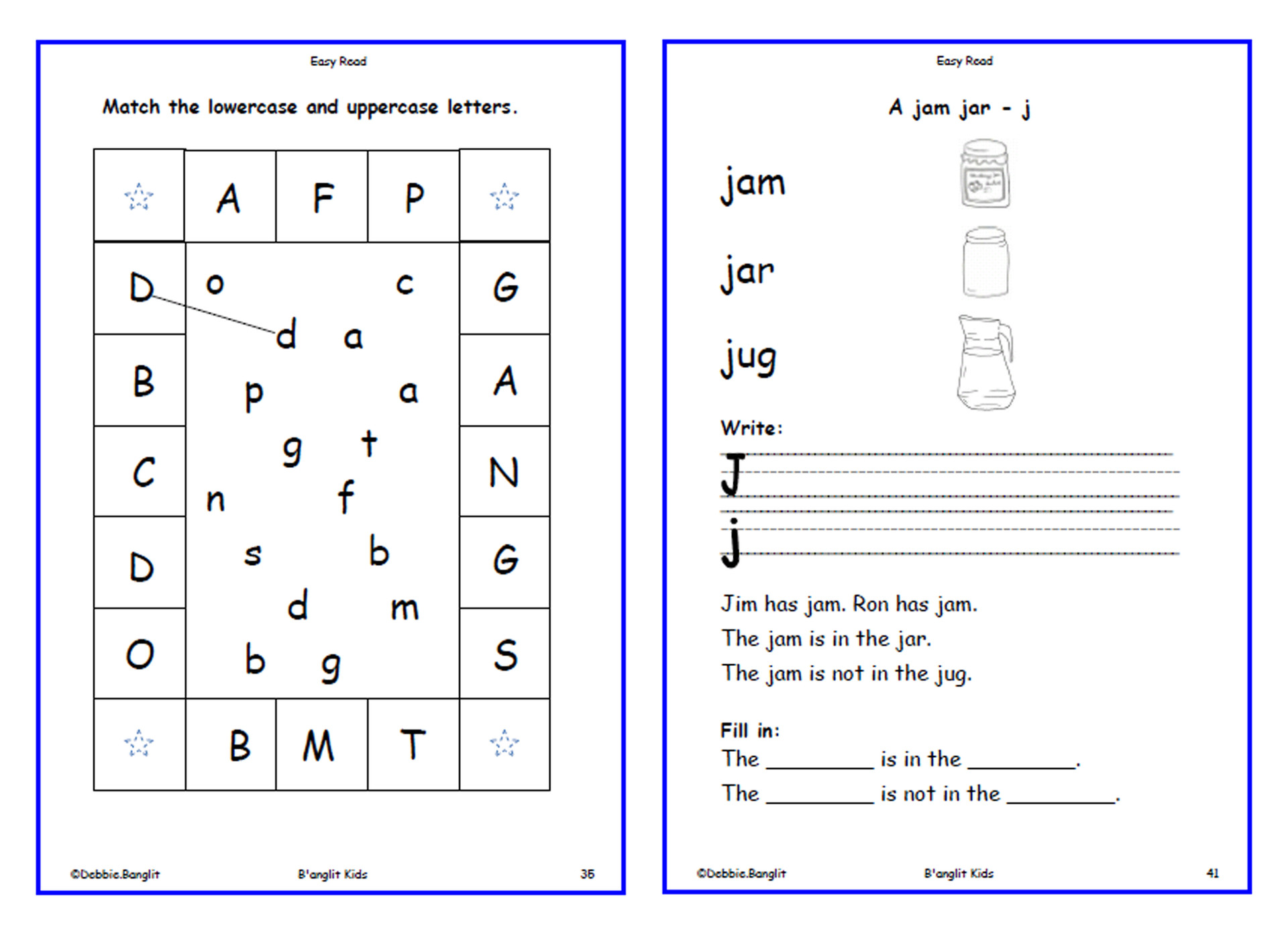 Easy Read - worksheets 36 & 41