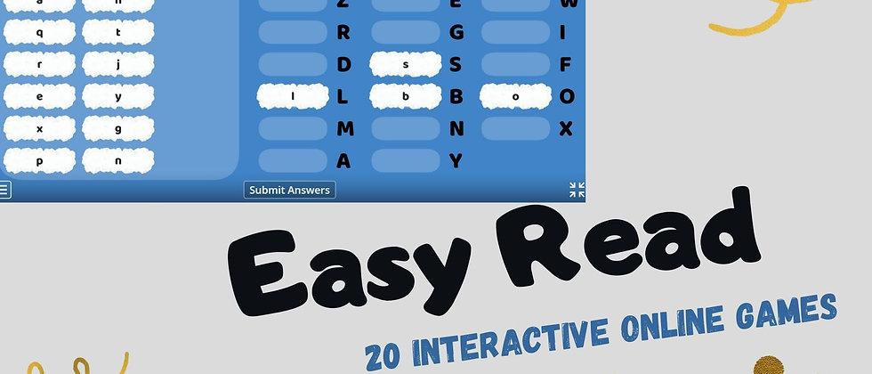 Easy Read - 20 Interactive Online Games