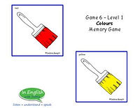 ESL Colours Memory Game