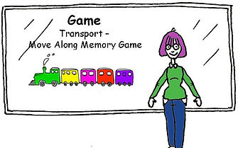 English vocabulary game Transport Move Along Game
