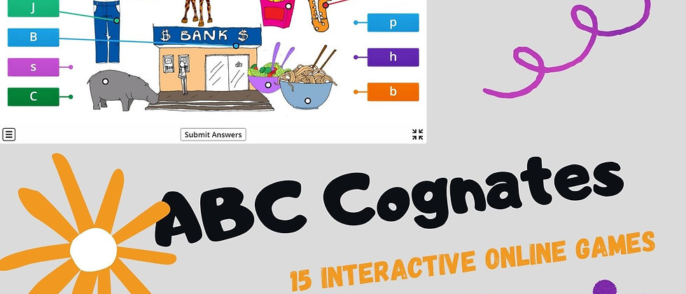 ABC Cognates - Interactive Online Games