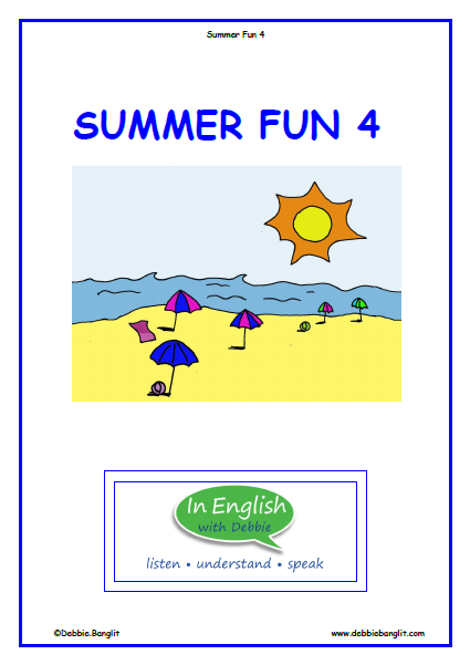 ESL Summer Fun 4 Booklet