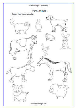 Animal Colouring Page