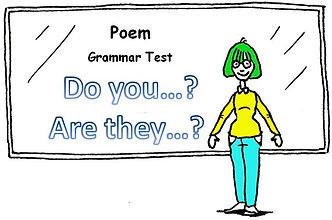 ESL Poem - Grammar Test