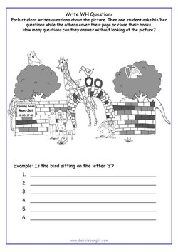 DebbieBanglit Summer Fun  3 - WH Questions
