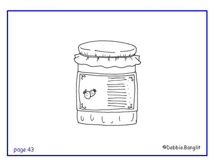 ESL phonics flashcard - jam illustration