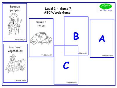 DebbieBanglit Level 2 ESL - ABC Word Game.