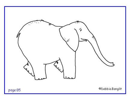 ESL phonics flashcard - elephant illustration