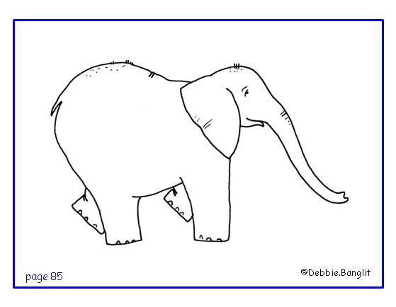 ESL phonics flashcard - elephant illustration