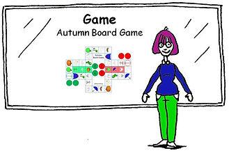 English vocabulary Game Autumn Board Game