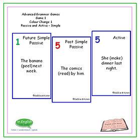 Advanced Grammar Game #1 - Colour Change Passive S