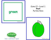 ESL Level 1 Fruit Card Activity
