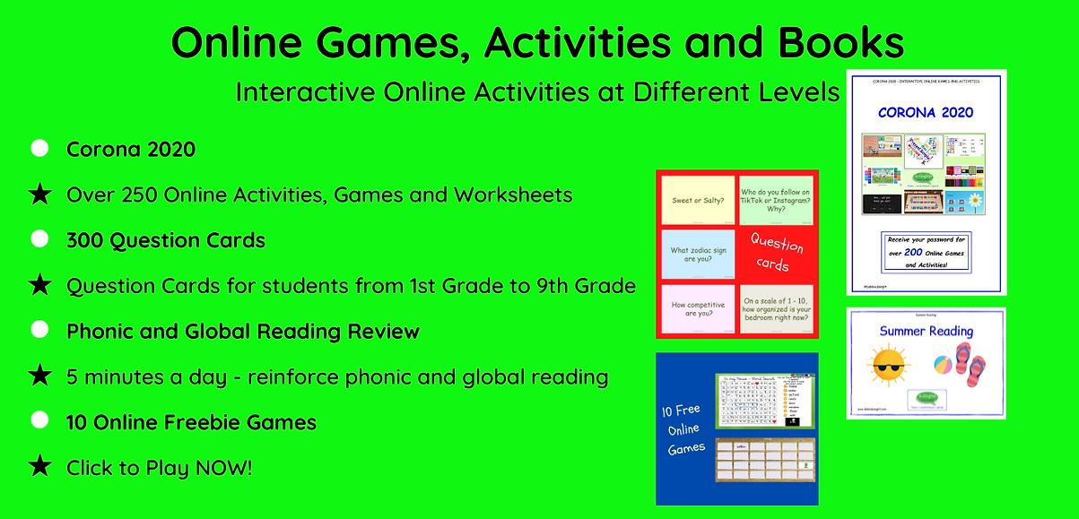 DebbieBanglit Online Games Activities Wo