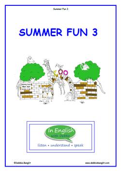 ESL Summer fun 3 Booklet