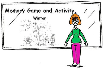 ESL Memory Game and Card Activity to review the winter vocabulary.