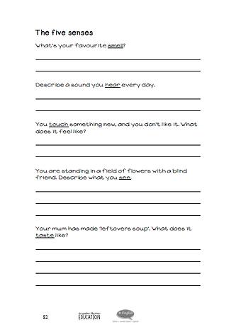 EFL Worksheet - The 5 senses