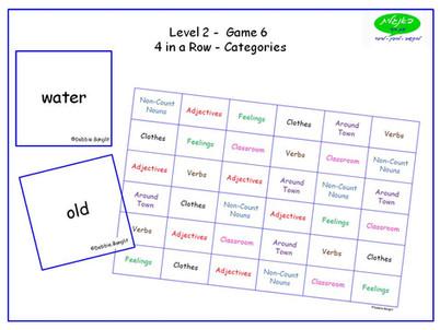 DebbieBanglit Level 2 ESL 4 in a Row - Categories