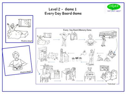 DebbieBanglit Level 2 ESL Board Game - Every Day Vocabulary